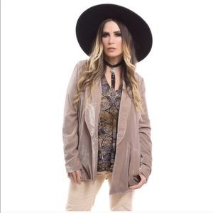Free People Yesterday's Muse Velvet Blazer Jacket